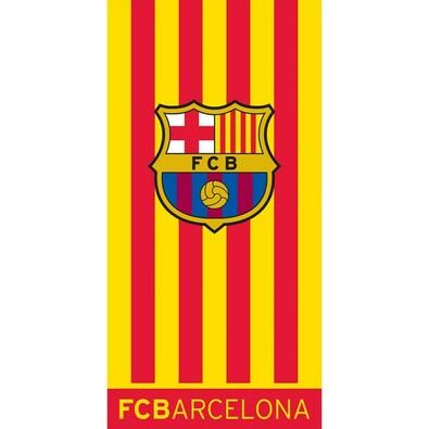 Osuška FC Barcelona Double Yellow, 70 x 140 cm