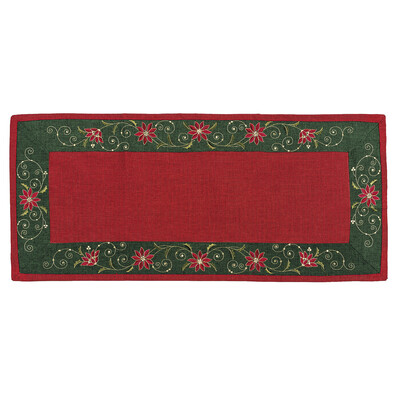 Vánoční ubrus Hvězda červená, 40 x 90 cm