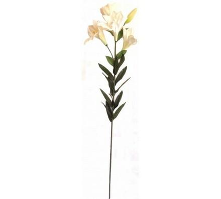 Umělá květina lilie bílá
