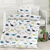 Dínók gyerek pamut ágymeműhuzat a kiságyba, 100 x 135 cm, 40 x 60 cm