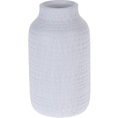 Keramická váza Asuan bílá, 19 cm