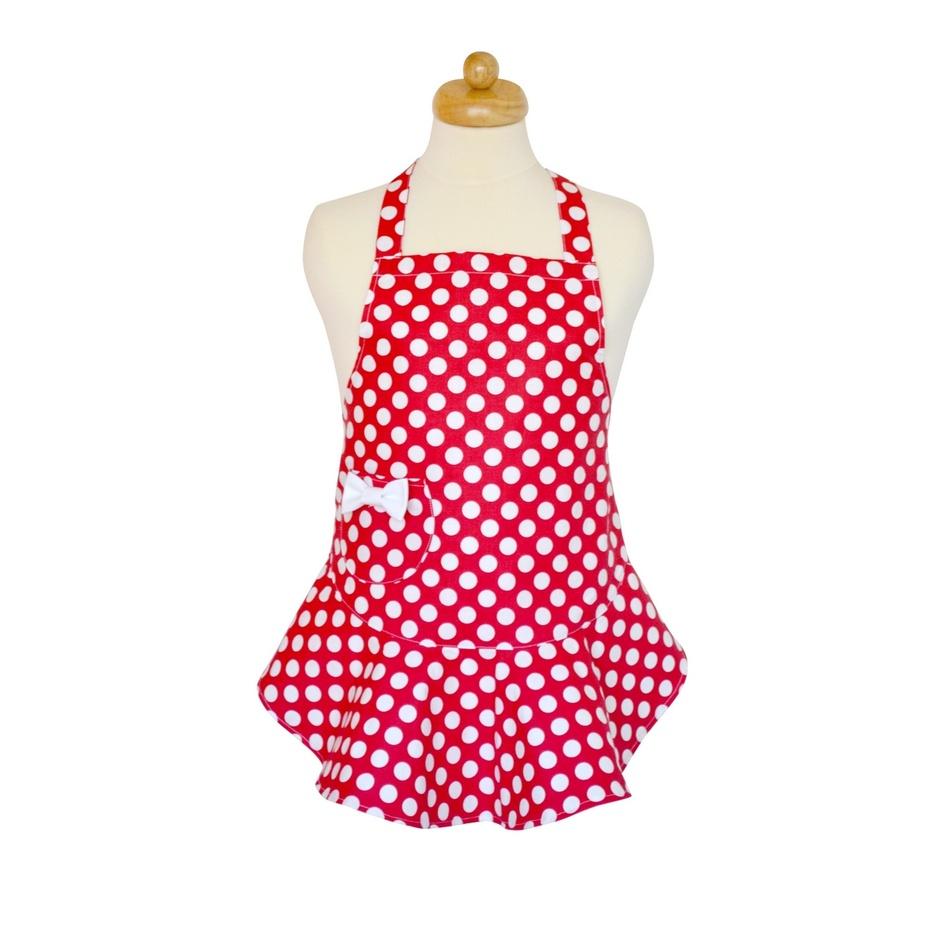 Šik v kuchyni Dětská zástěra červená 6f57e319cc