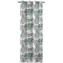 AmeliaHome Blackout Palm Leaves függöny, zöld, 140 x 245 cm