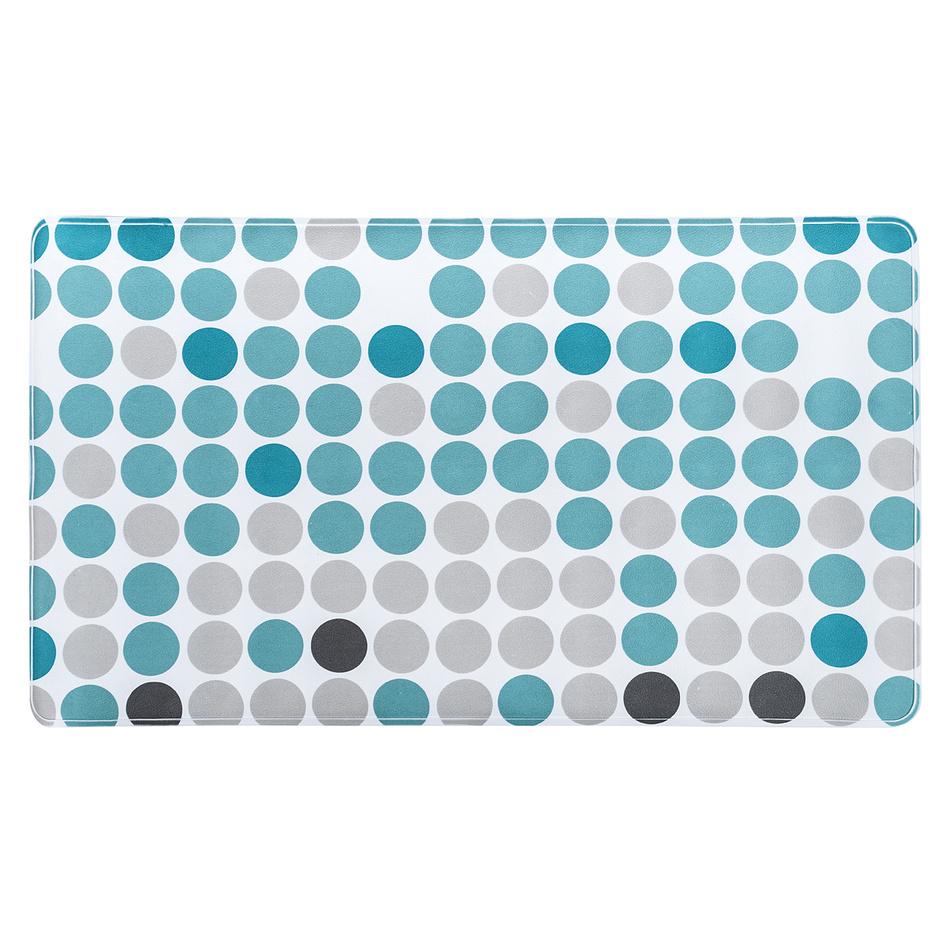 Koupelnová předložka Circle modrá