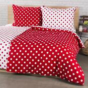 4Home Bavlnené obliečky Červená bodka, 200 x 220 cm, 2 ks 70 x 90 cm