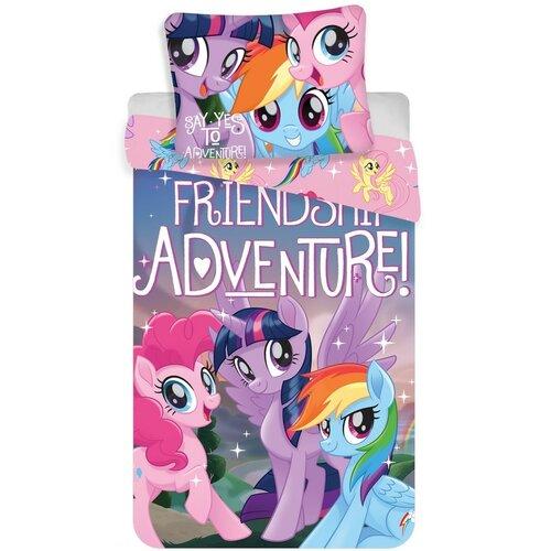 Jerry Fabrics Dětské bavlněné povlečení My Little Pony Friendship adventure, 140 x 200 cm, 70 x 90 cm