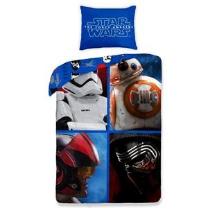 Dětské bavlněné povlečení Star Wars The Force Awakens blue, 140 x 200 cm, 70 x 90 cm
