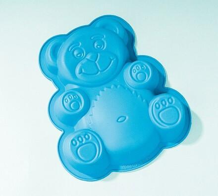Silikonová forma medvěd, modrá