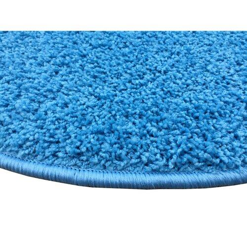 Kusový koberec Color shaggy modrá, 120 cm