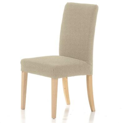Multielastický potah na židli Petra béžová, 40 - 50 cm, sada 2 ks