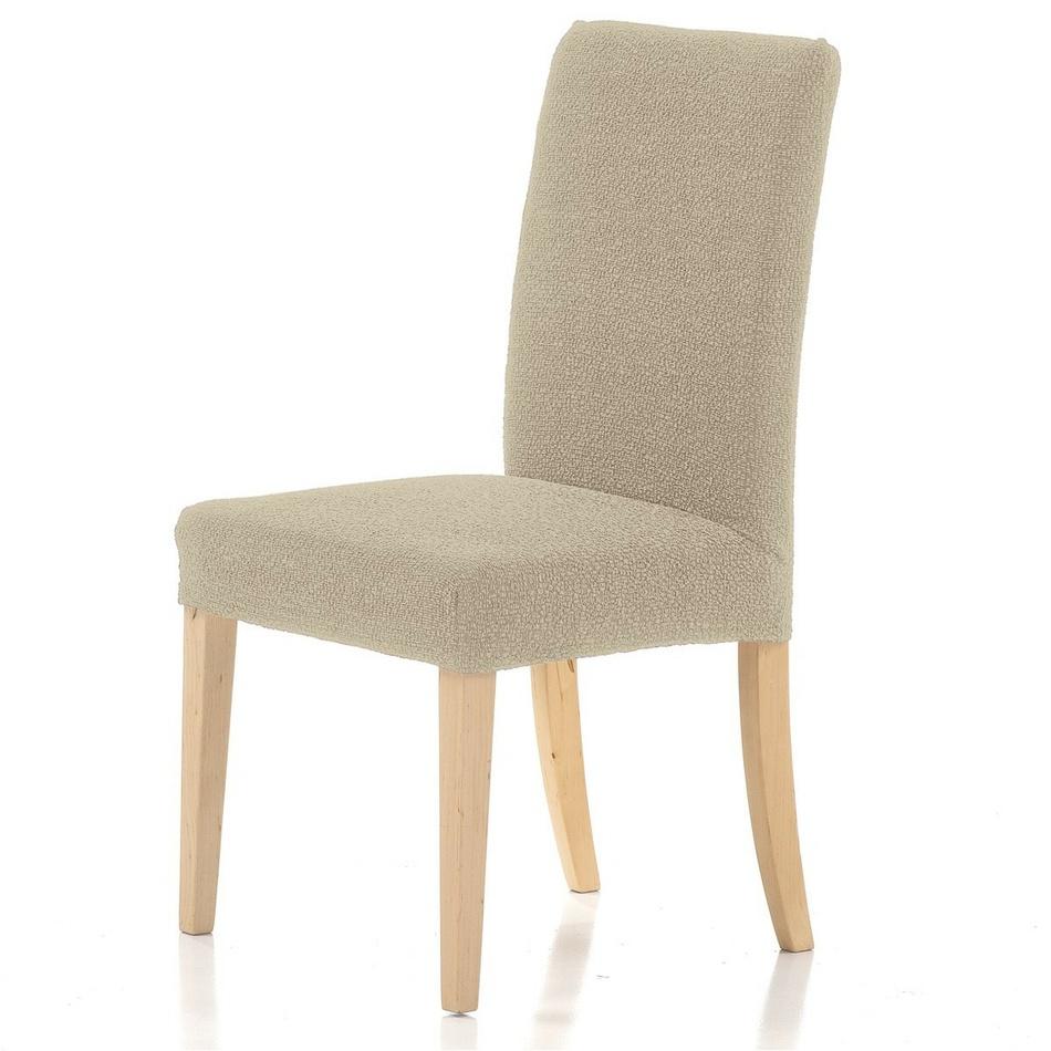 Forbyt Multielastický potah na židli Petra béžová, 40 - 50 cm, sada 2 ks