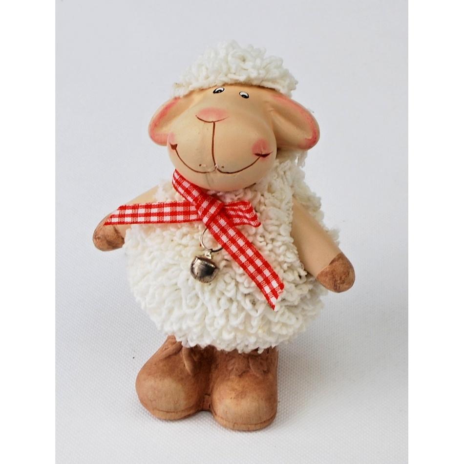Keramická ovečka Vanda , 12 cm