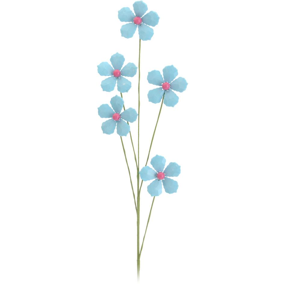 Zľava  Dekoratívna umelá kvetina modrá, 68 cm