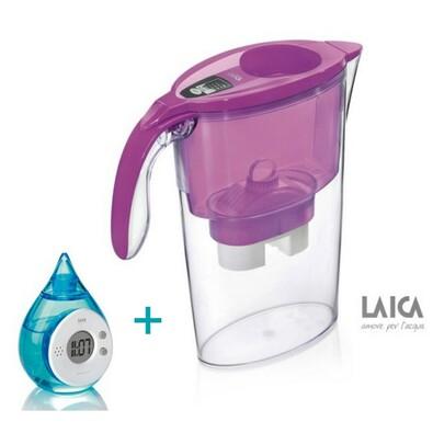 LAICA Stream Line filtrační konvice fialová