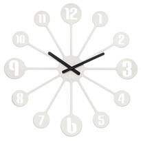 Koziol Nástěnné hodiny Pinball bílá, pr. 45 cm
