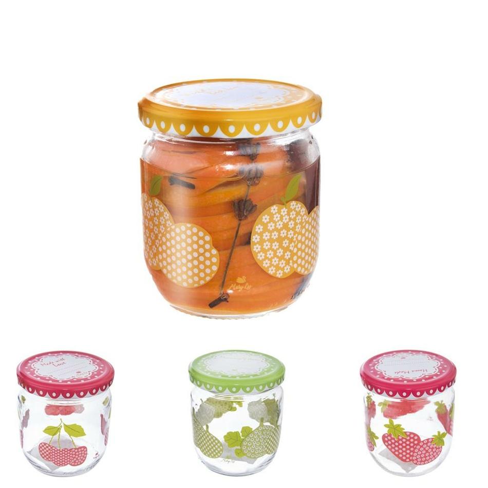Orion Sada zaváracích pohárov s viečkom Sweet 0,42 l, 4 ks