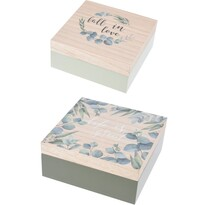 Sada dekoračních boxů Nature, 2 ks