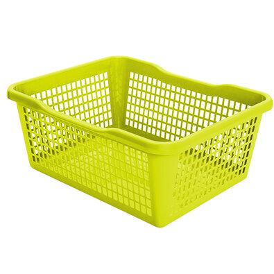 műanyag kosár, 47,5 x 37,8 x 20,8 cm, zöld