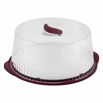 Prenosný box na tortu 36,5 cm, bordó