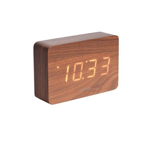 Ceas LED de masă Karlsson 5653DW, de design, cualarmă, 15 x 10 cm
