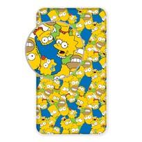 Cearșaf de pat din bumbac Simpsons family, 90 x 200 cm
