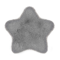 Domarex Soft Star Plush műszőrme, szürke, 60 x 60 cm