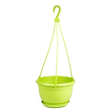 Plastový květináč Malta 21 cm, zelená