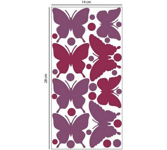Penová samolepiaca dekorácia Motýle