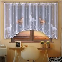Lovas függöny, színes, 300 x 150 cm
