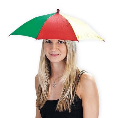 Deštník na hlavu vícebarevný
