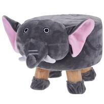 Taburet pentru copii Elefant, 44 x 28 x 24 cm