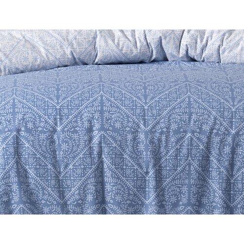 Bavlněné povlečení Vira Blue, 220 x 200 cm, 2 ks 70 x 90 cm