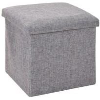 Úložný sedací box Tessile šedá, 38 x 38 x 38 cm