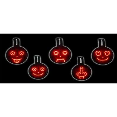 LED smajlíci do auta