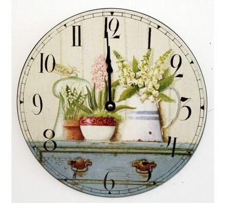 Nástěnné hodiny květiny