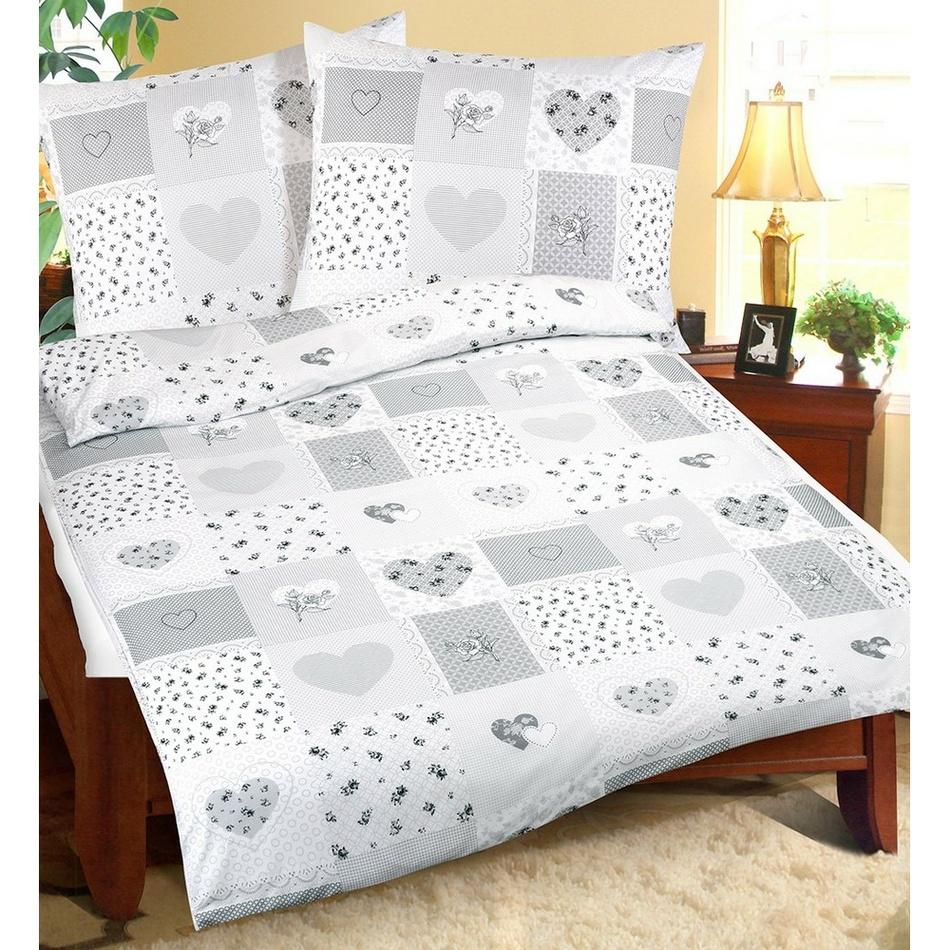 Bellatex Bavlnené obliečky Srdce patchwork, 240 x 200 cm, 2 ks 70 x 90 cm