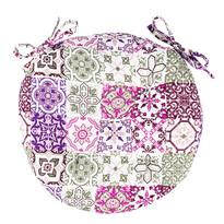 Pernă Pink Tiles brodată rotundă, 40 cm