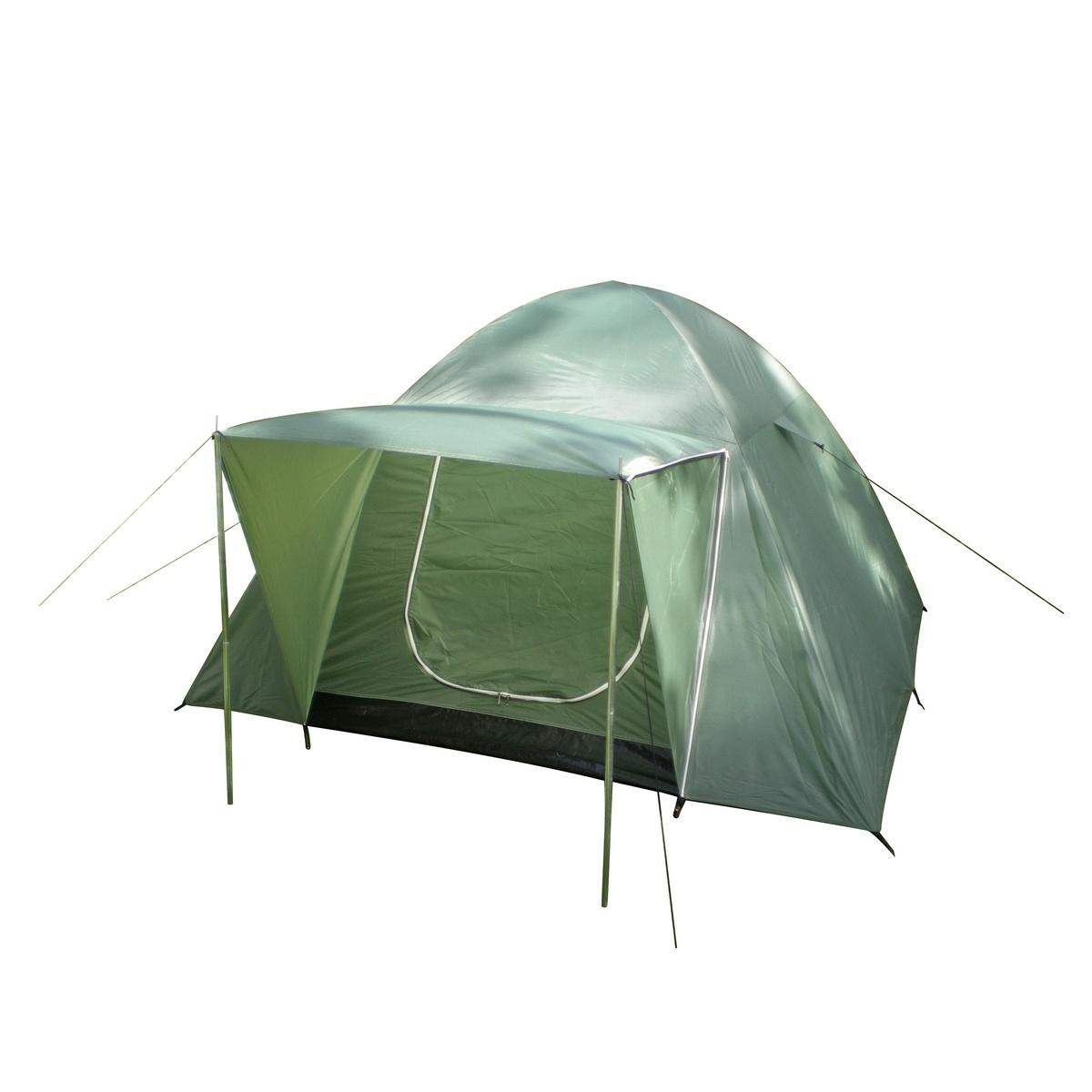Nawalla Dvojplášťový stan pre 3 osoby zelená, 210 x 210 x 130 cm