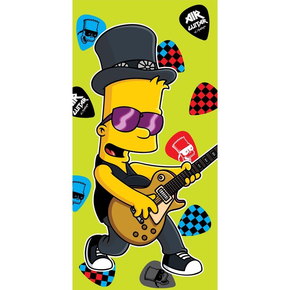 Jerry Fabrics Osuška Bart guitar music, 75x150 cm