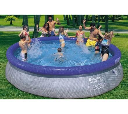 Samostavěcí bazén, Bestway, modrá, pr. 457 cm