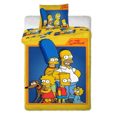 Dětské bavlněné povlečení The Simpsons, 140 x 200 cm, 70 x 90 cm