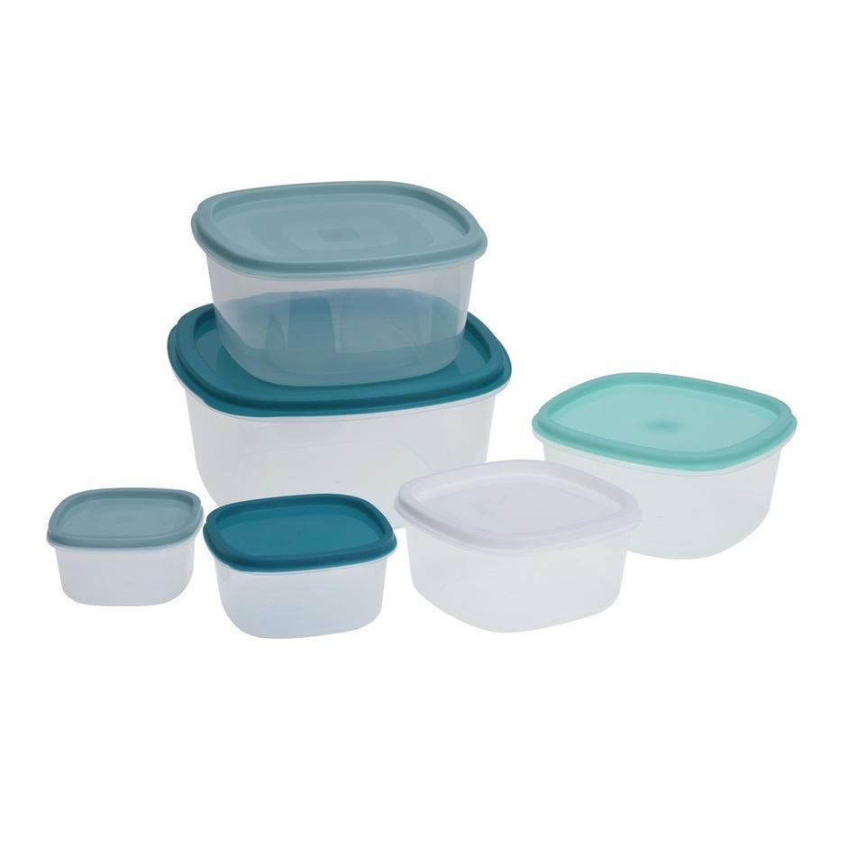 6dílná sada plastových dóz na potraviny, mix