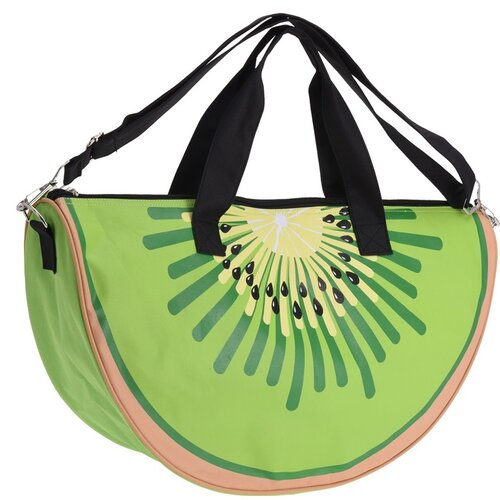 Plážová taška Kiwi zelená, 49 x 28 x 15 cm