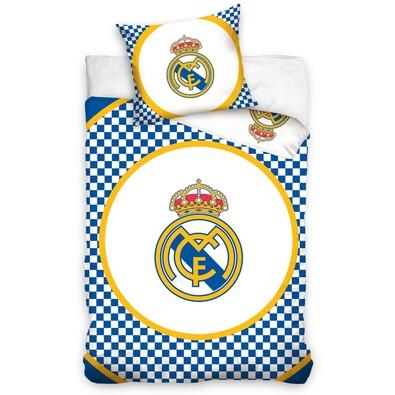 Bavlněné povlečení Real Madrid Circle, 140 x 200 cm, 70 x 80 cm