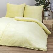 Povlečení Mikroplyš žlutá, 140 x 200 cm, 70 x 90 cm