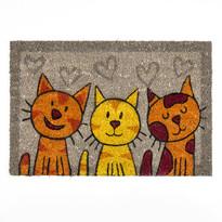 Kokosová rohožka mačky šedá, 40 x 60 cm