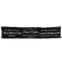 Ozdobný těsnicí polštář do oken Champagne černá, 90 x 20 cm