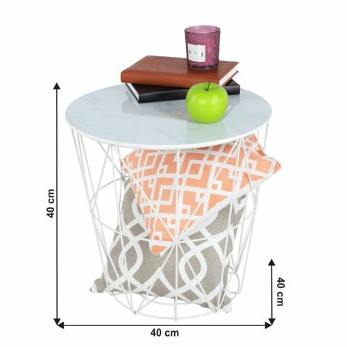 Enplo oldalsó asztal, 40 x 40 cm