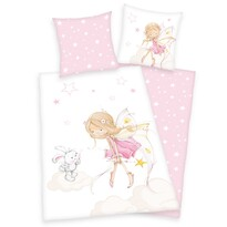 Tündér és nyuszi gyermek pamut ágynemű, 140 x 200 cm, 70 x 90 cm