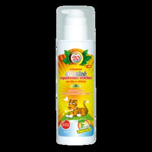 Topvet Dětské opalovací mléko SPF 20, 200 ml